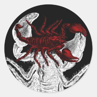 Escorpión rojo - pegatina