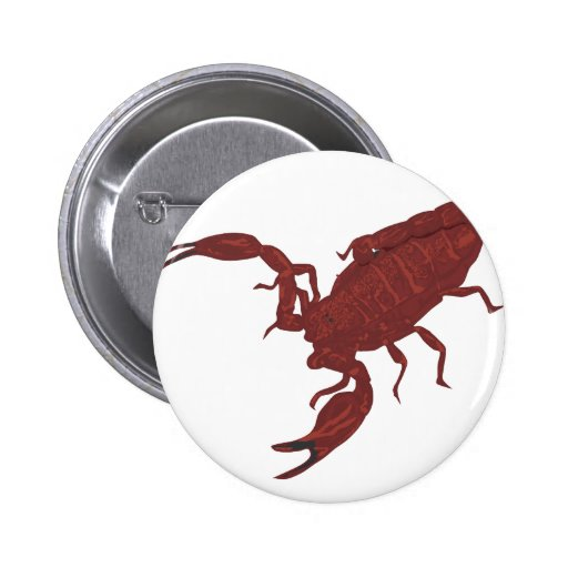 Escorpión rojo sangre pin