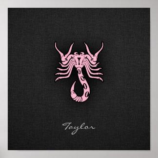 Escorpión rosa claro poster