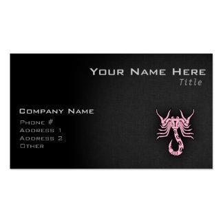 Escorpión rosa claro tarjetas de negocios