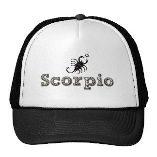 escorpión, sco gorras de camionero
