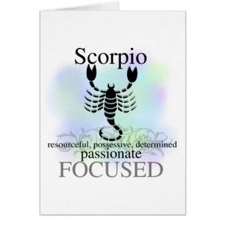 Escorpión sobre usted felicitación