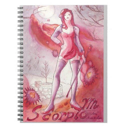 Escorpión Spiral Notebooks