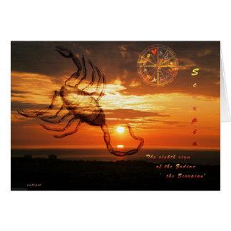 escorpión tarjeta de felicitación