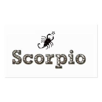 escorpión, tarjetas personales