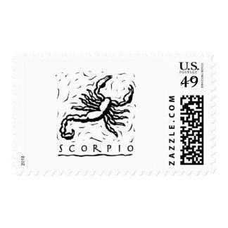 Escorpión Timbre Postal