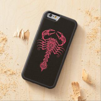 Escorpión tribal rosado en negro funda de iPhone 6 bumper arce