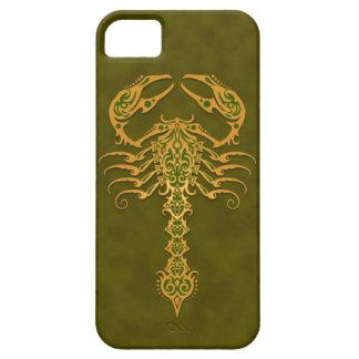 Escorpión tribal verde iPhone 5 funda