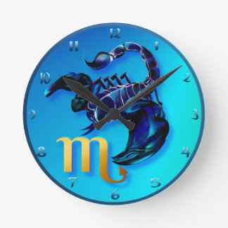 Escorpión Wallclock Reloj Redondo Mediano