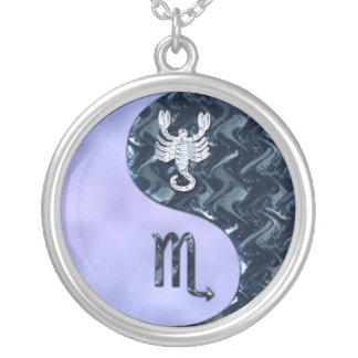 Escorpión Yin Yang Collar Personalizado