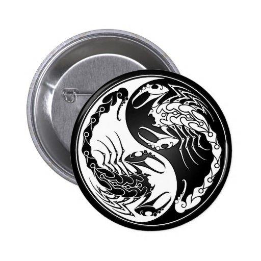 Escorpiones de Yin Yang Pins