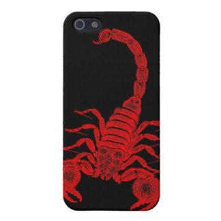 Escorpiones del rojo del ejemplo del escorpión de  iPhone 5 carcasas