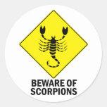 Escorpiones Etiquetas Redondas