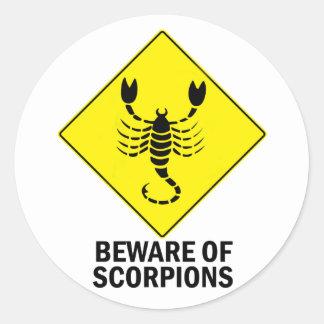 Escorpiones Pegatina Redonda