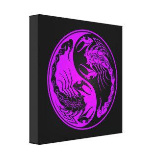Escorpiones púrpuras y negros de Yin Yang Lienzo Envuelto Para Galerias
