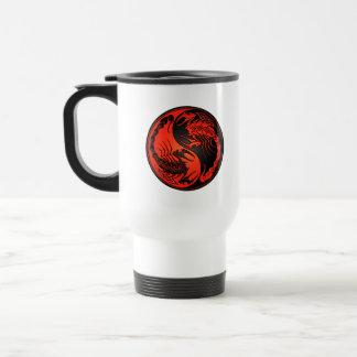 Escorpiones rojos y negros de Yin Yang Tazas