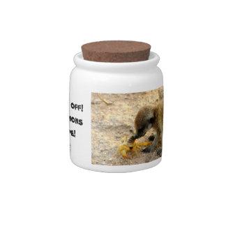 Escorpiones - tarro del caramelo de Meerkat Jarra Para Caramelo