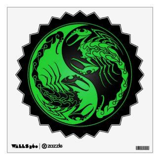 Escorpiones verdes y negros de Yin Yang Vinilo