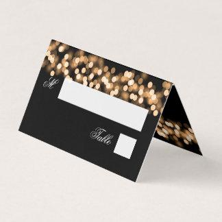 Escort Card Wedding Gold Hollywood Glam