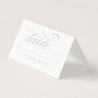 Escort Place Card | Calligraphy Script Silver