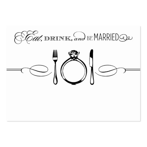 escort place card eat drink be married large business cards pack of 100 zazzle. Black Bedroom Furniture Sets. Home Design Ideas