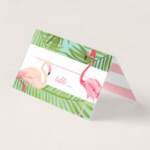 Escort Place Card   Tropical Flamingo