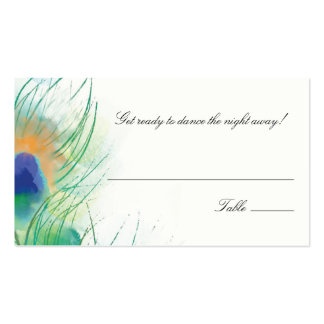 Escort/Seating Card Watercolor Peacock Feather Double-Sided Standard Business Cards (Pack Of 100)