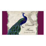 Escort Table Cards - Vintage Peacock 5 Business Cards