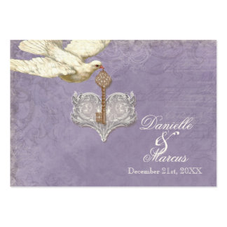 Escort Table Seating Card, Key to my Heart, Doves Large Business Cards (Pack Of 100)