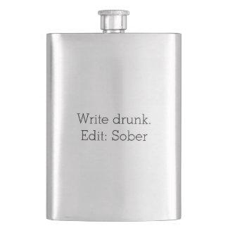 Escriba borracho. Corrija: Calme el frasco Cantimploras