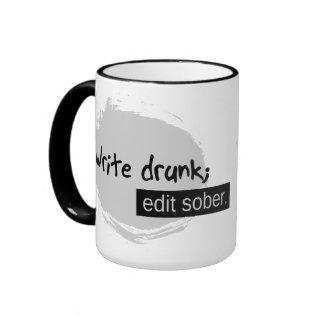 Escriba borracho; Corrija sobrio Taza De Dos Colores