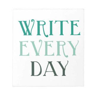 Escriba cada día blocs de notas