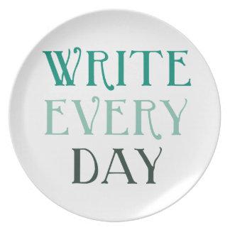 Escriba cada día plato
