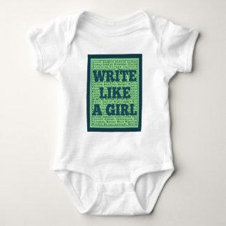 Escriba como un pavo real del chica body para bebé