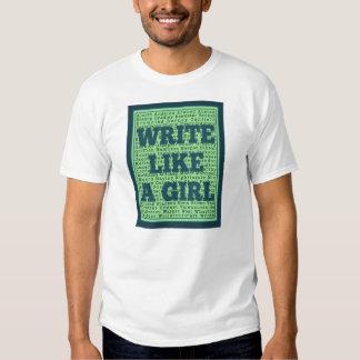 Escriba como un pavo real del chica remeras