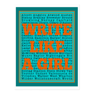 Escriba como un trullo del chica postal