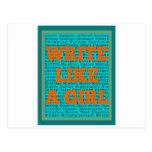 Escriba como un trullo del chica tarjeta postal