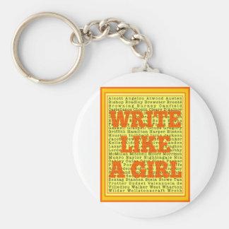 Escriba como una fruta cítrica del chica llaveros personalizados