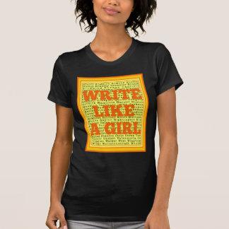 Escriba como una fruta cítrica del chica camiseta
