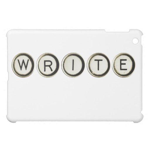 Escriba el caso del iPad de las llaves de la máqui