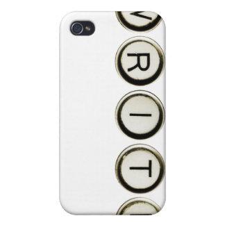 Escriba el caso del iPhone de las llaves de la máq iPhone 4/4S Carcasas