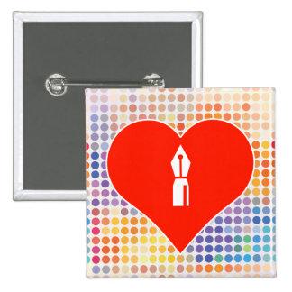 Escriba el regalo pin cuadrada 5 cm