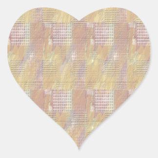 Escriba en corazón suave de la base del color pegatina en forma de corazón