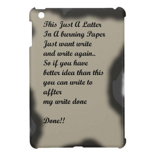 Escriba en Ilustration de papel ardiente iPad Mini Cobertura