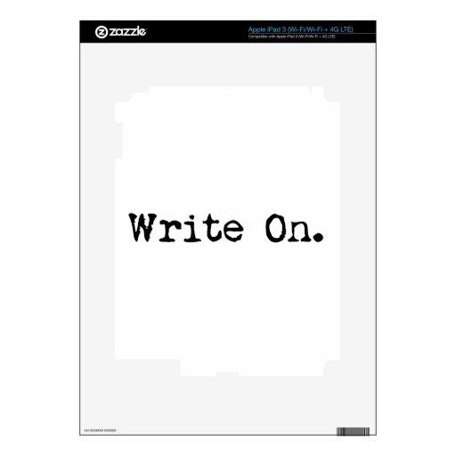 Escriba en los regalos para los escritores pegatinas skins para iPad 3
