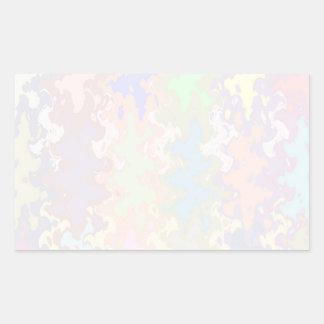 Escriba en sombra multicolora de la luz de la imag rectangular pegatinas