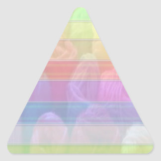 Escriba en sombra multicolora de la luz de la imag calcomanías trianguloes