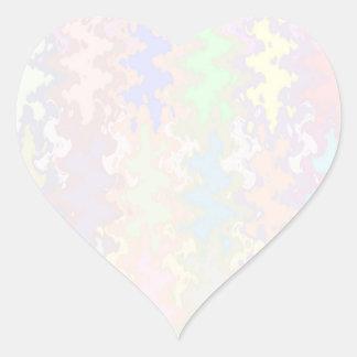 Escriba en sombra multicolora de la luz de la imag pegatina corazón personalizadas