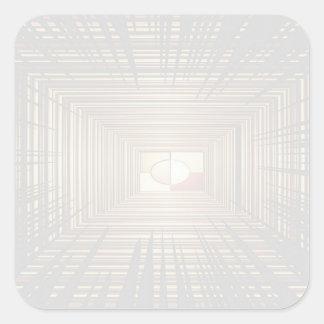 Escriba en sombra multicolora de la luz de la imag pegatinas cuadradas personalizadas