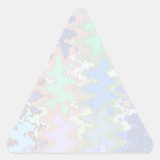 Escriba en sombra multicolora de la luz de la imag pegatina triangulo personalizadas